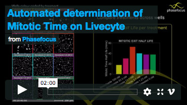 Automated Determination of Mitotic Time on Livecyte